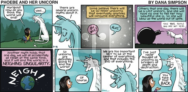 Phoebe and Her Unicorn on Sunday March 15, 2020 Comic Strip