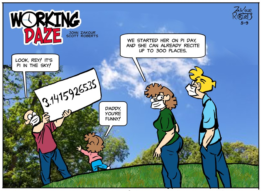 Working Daze Comic Strip for May 09, 2021