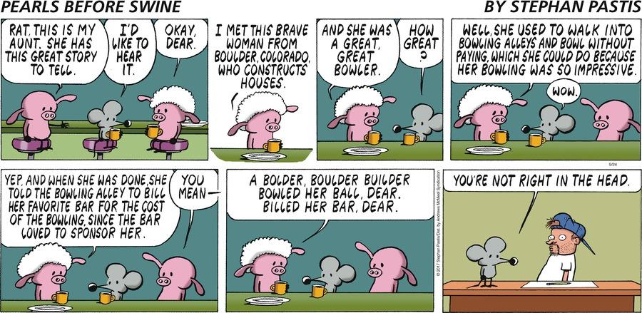 Pearls Before Swine for Sep 24, 2017 Comic Strip