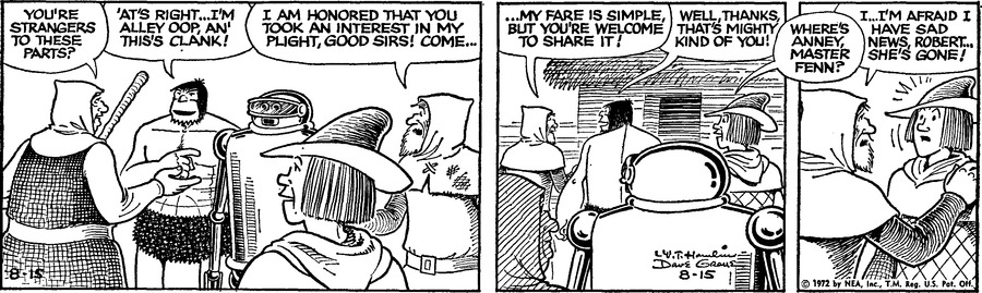 Alley Oop Comic Strip for August 15, 1972