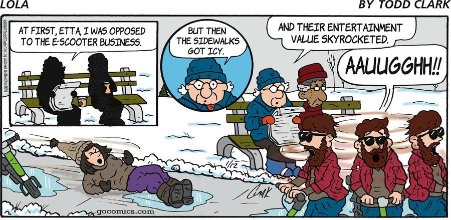 Lola Comic Strip for January 12, 2020