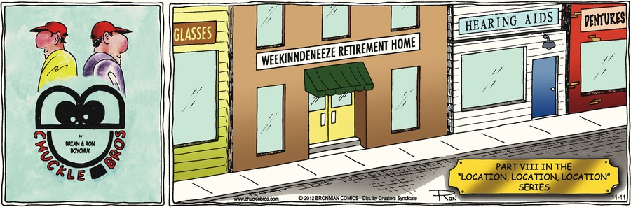 """Part VIII in the 'location, location, location' series""