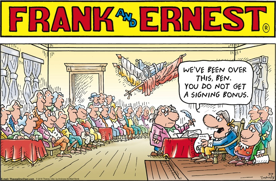 Frank and Ernest Comic Strip for July 07, 2019