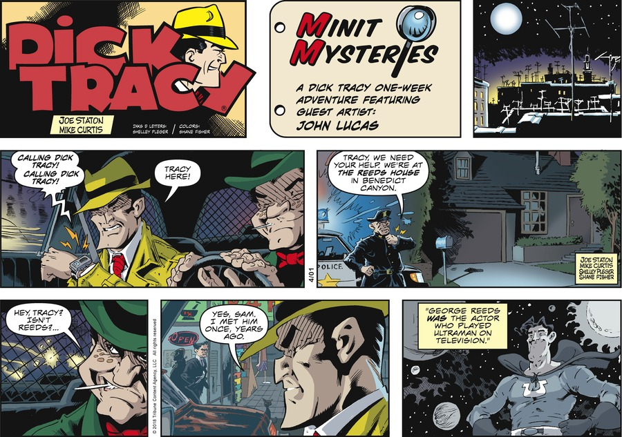 Dick Tracy Comic Strip for April 01, 2018