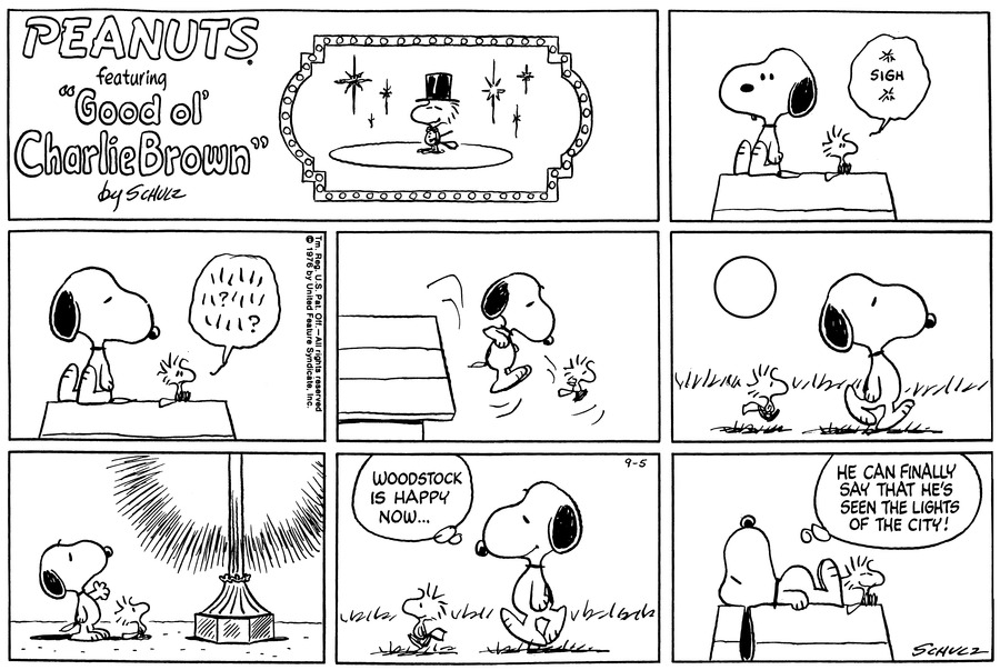 Peanuts for Sep 5, 1976 Comic Strip