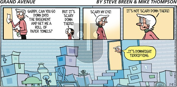 Grand Avenue on Sunday February 12, 2012 Comic Strip