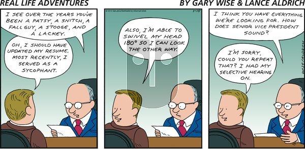 Real Life Adventures on Sunday January 15, 2012 Comic Strip