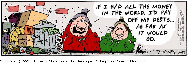 Frank and Ernest Comic Strip for July 19, 2002