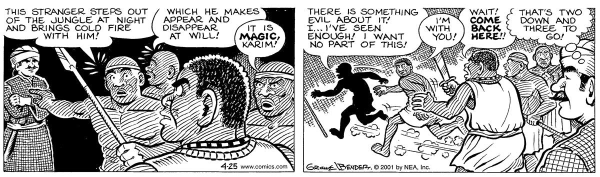 Alley Oop for Apr 25, 2001 Comic Strip