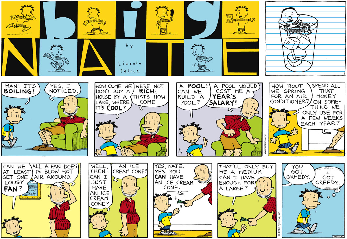 Big Nate Comic Strip for August 17, 2003