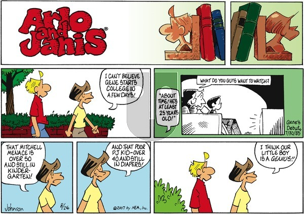 Arlo and Janis on Sunday August 26, 2007 Comic Strip