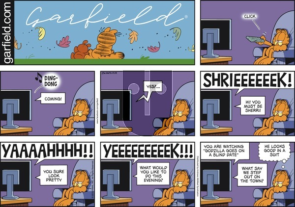 Garfield on Sunday October 28, 2018 Comic Strip
