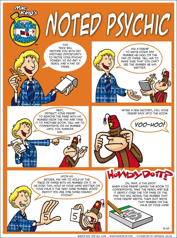 Magic in a Minute for Mar 10, 2013 Comic Strip
