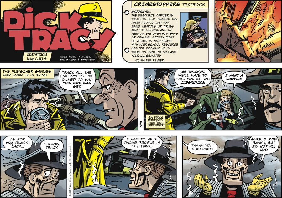 Dick Tracy Comic Strip for July 23, 2017