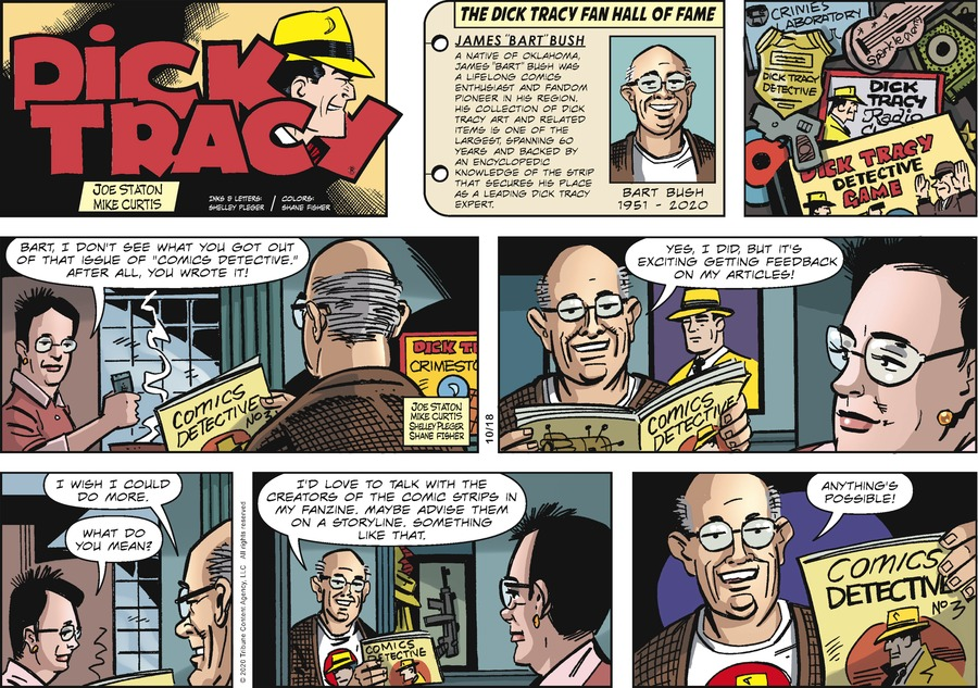 Dick Tracy Comic Strip for October 18, 2020