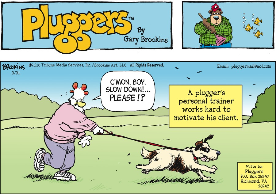 Pluggers for Mar 31, 2013 Comic Strip
