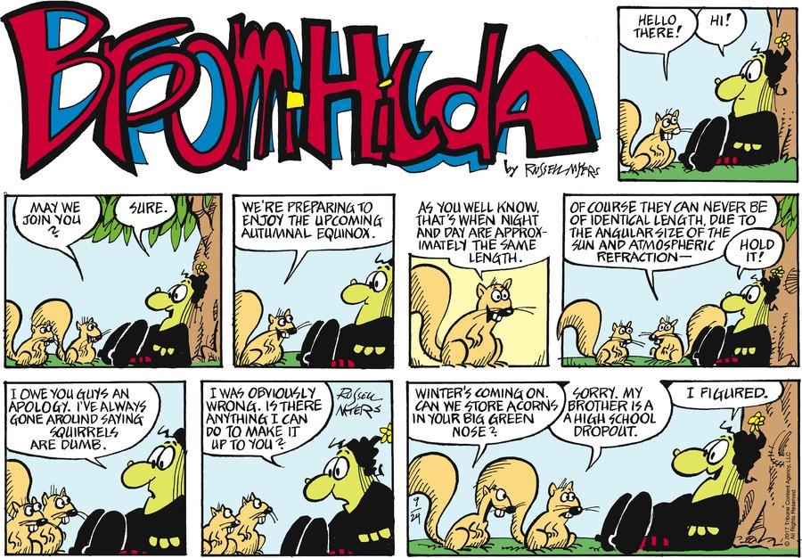 Broom Hilda Comic Strip for September 24, 2017