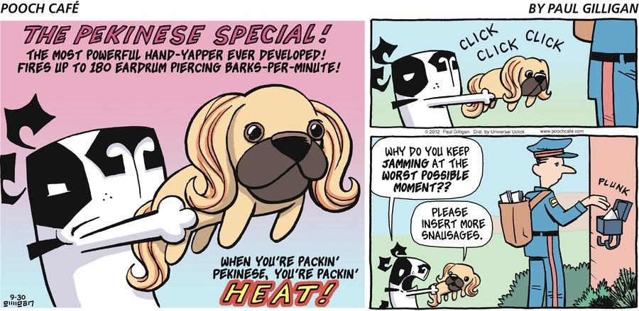 Pooch Cafe for Sep 30, 2012 Comic Strip