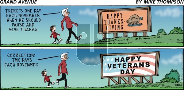 Grand Avenue on Sunday November 11, 2018 Comic Strip