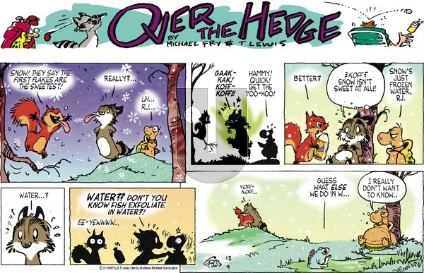 Over the Hedge on December 9, 2018 Comic Strip