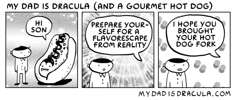 My Dad is Dracula Comic Strip for July 06, 2020
