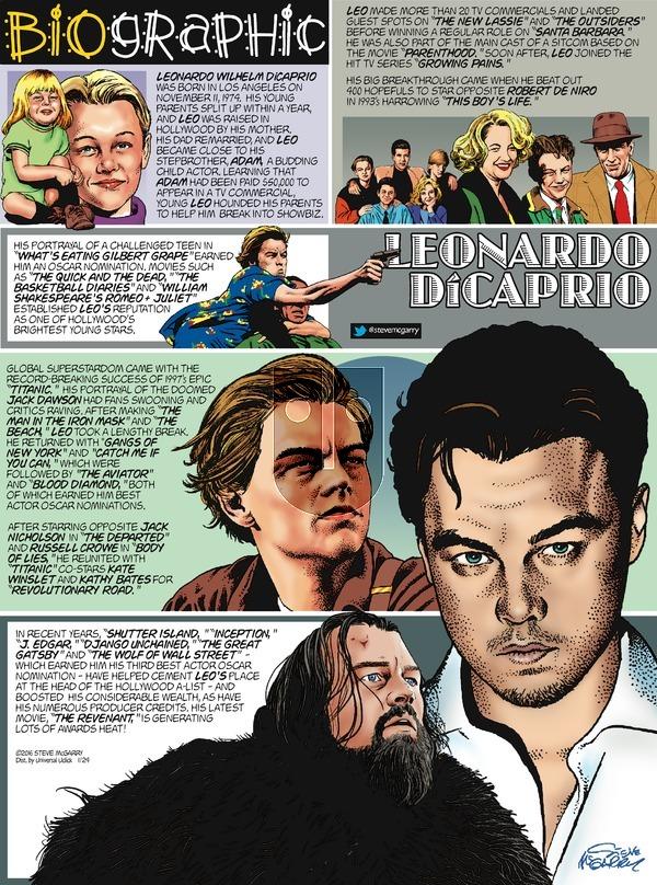 Biographic on Sunday January 24, 2016 Comic Strip