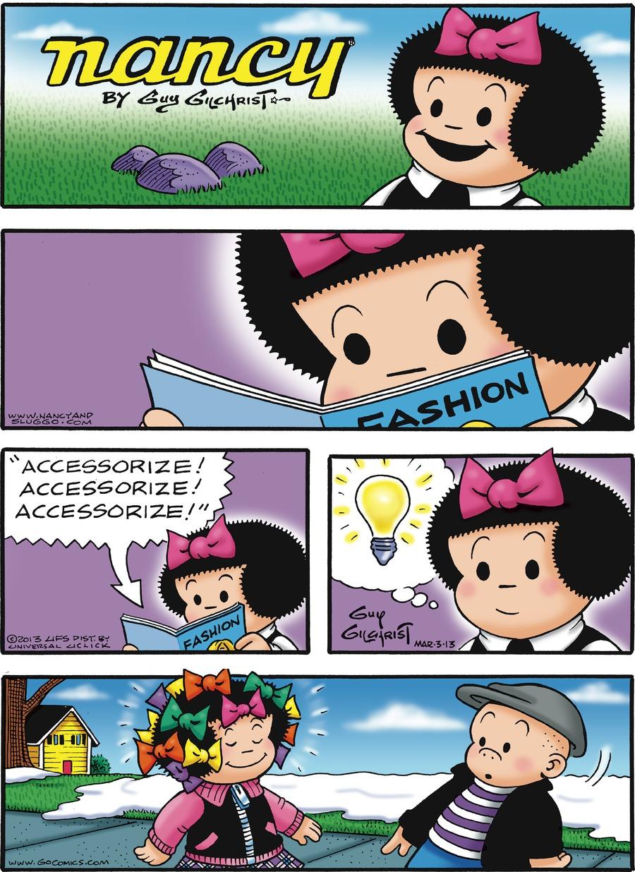 Nancy for Mar 3, 2013 Comic Strip