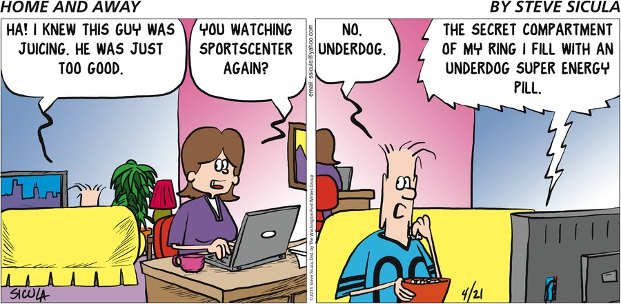 Home and Away for Apr 21, 2013 Comic Strip