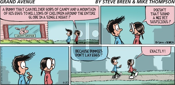 Grand Avenue on Sunday April 20, 2014 Comic Strip