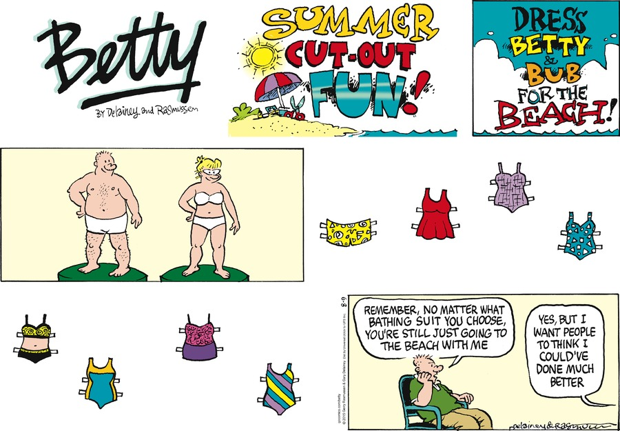 Betty Comic Strip for August 09, 2015