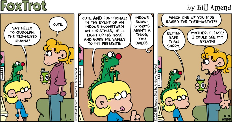 FoxTrot by Bill Amend on Sun, 20 Dec 2020