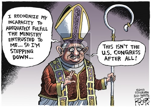 Rob Rogers on Sunday March 3, 2013 Comic Strip
