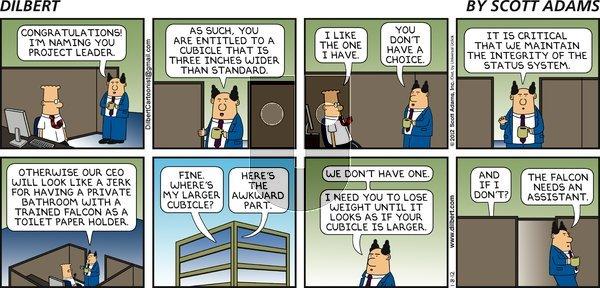 Dilbert on Sunday January 8, 2012 Comic Strip