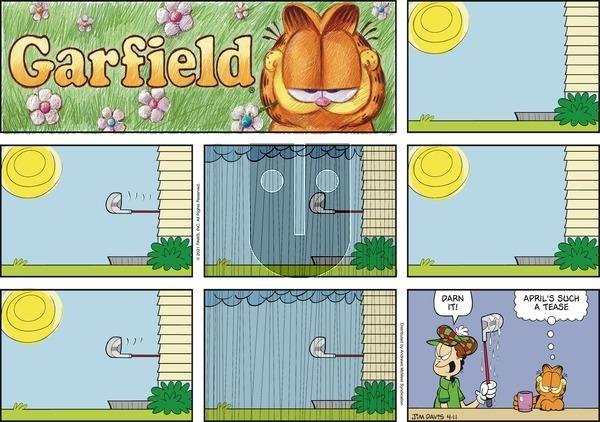 Garfield - Sunday April 11, 2021 Comic Strip
