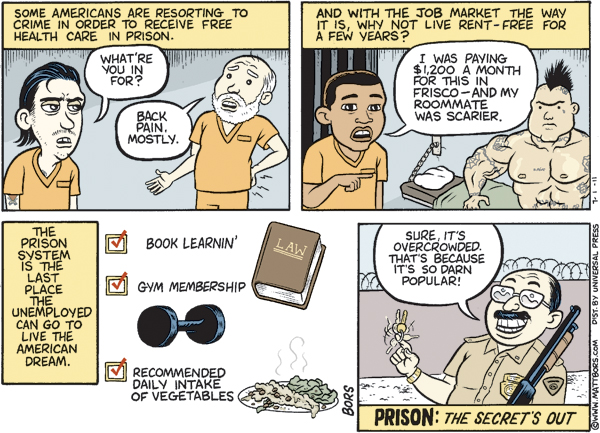 Matt Bors Comic Strip for July 01, 2011