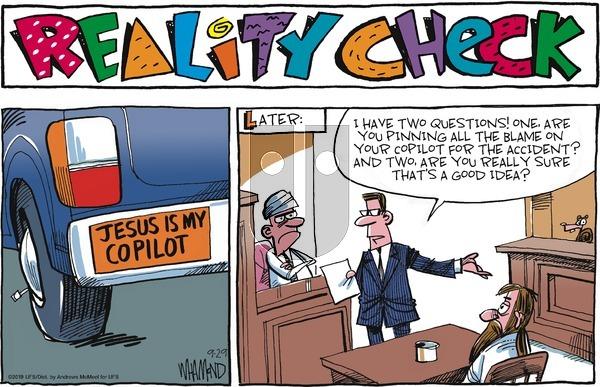 Reality Check - Sunday September 29, 2019 Comic Strip