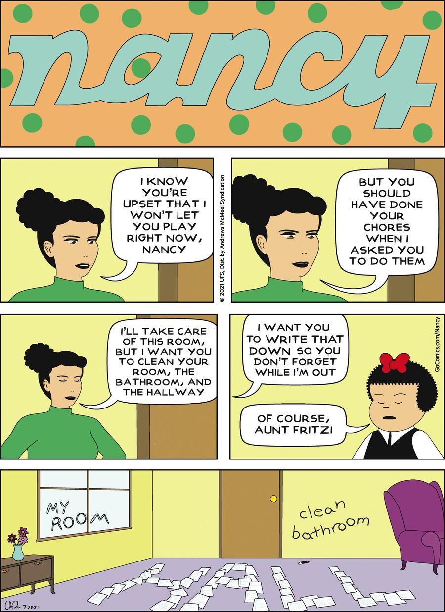 Nancy Comic Strip for July 25, 2021