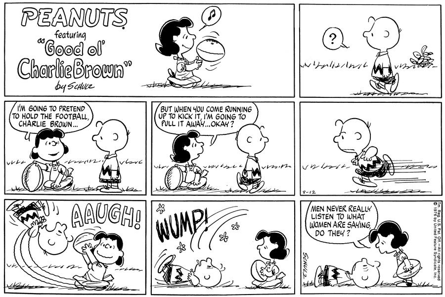 Peanuts Comic Strip for September 12, 1976
