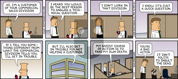Dilbert on Sunday September 28, 2008 Comic Strip