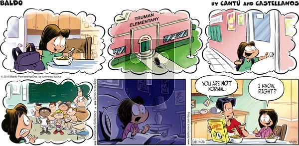 Baldo on Sunday October 23, 2016 Comic Strip