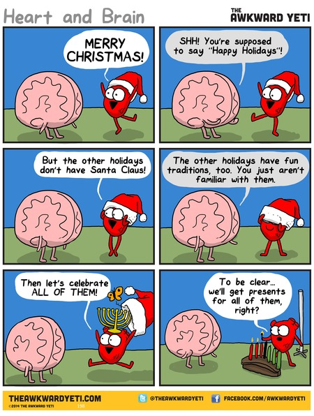 The Awkward Yeti Comic Strip for December 21, 2014