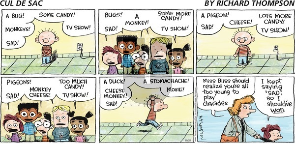 Cul de Sac on Sunday October 27, 2019 Comic Strip