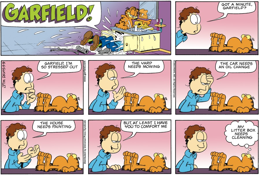 Garfield Comic Strip for March 09, 2003