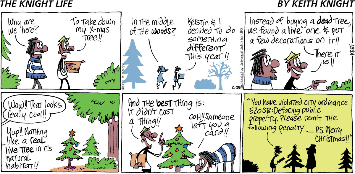 The Knight Life Comic Strip for December 25, 2011