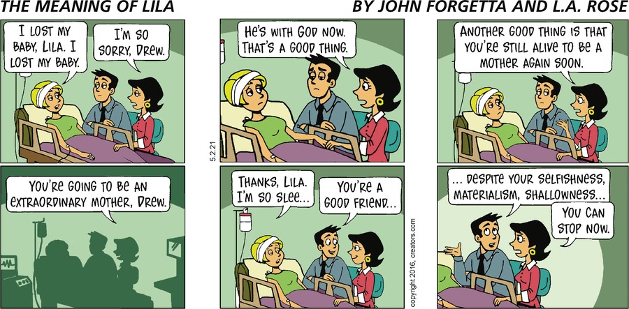 The Meaning of Lila Comic Strip for May 02, 2021