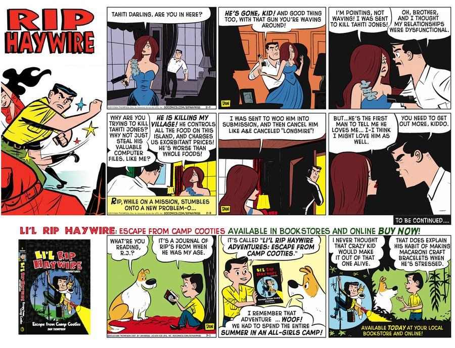 Rip Haywire Comic Strip for September 18, 2016