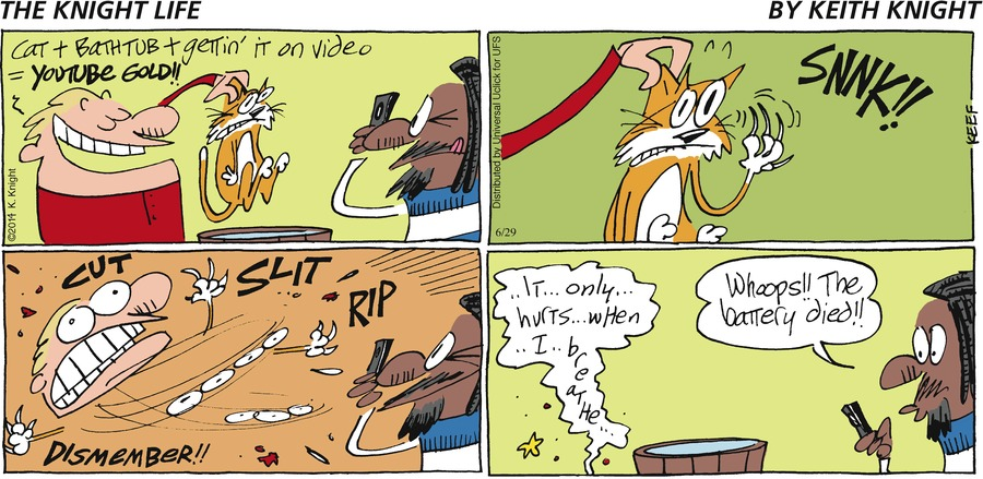 The Knight Life Comic Strip for June 29, 2014