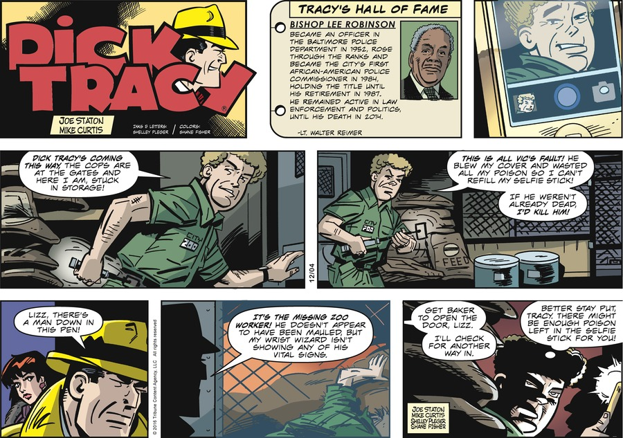 Dick Tracy Comic Strip for December 04, 2016