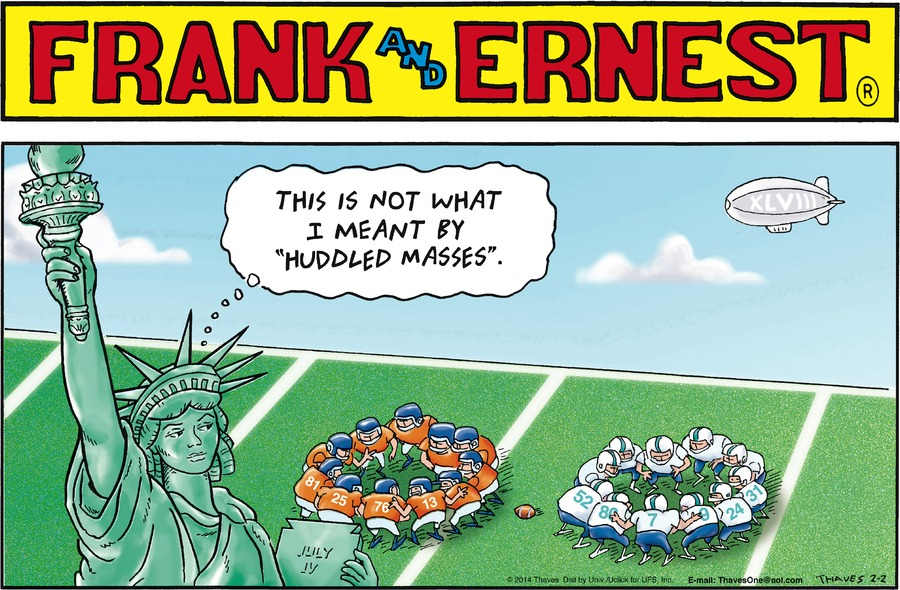 Frank and Ernest Comic Strip for February 02, 2014