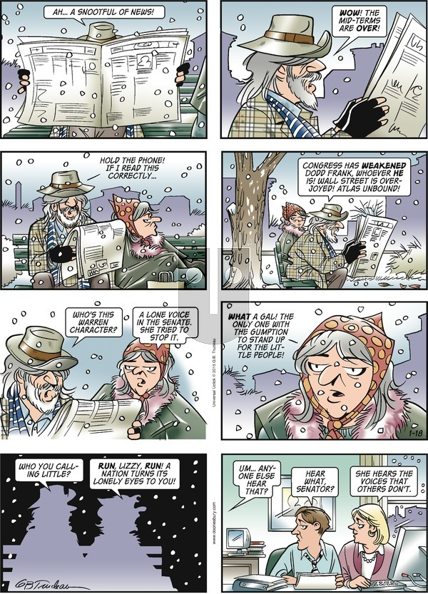 Doonesbury on Sunday January 18, 2015 Comic Strip